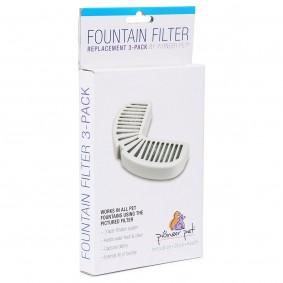 Pioneer Pet Vlieskohlefilter mit Plastikummantelung 3er Set für Trinkbrunnen