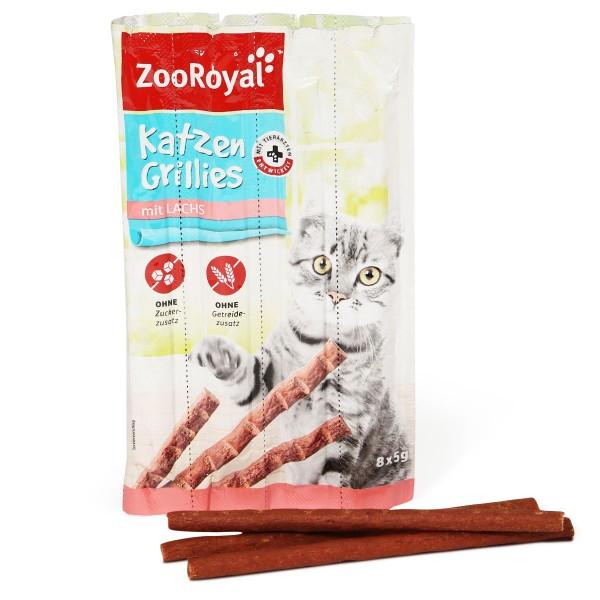 ZooRoyal Katzen-Grillies mit Lachs - 8x5g
