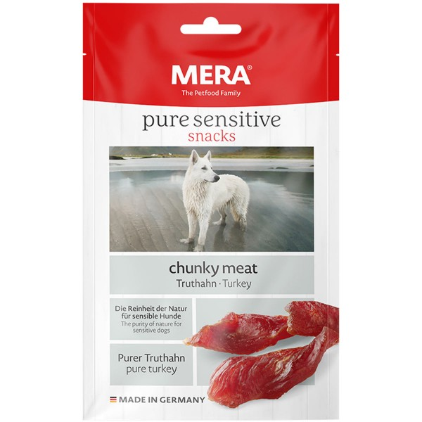 MERA pure sensitive snacks chunky meat Truthahn