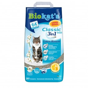 Biokat's Klumpstreu Classic Fresh 3 in 1 Cotton Blossom 20 L