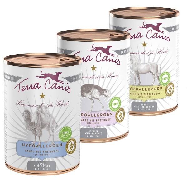 Terra Canis Hypoallergen Mixpaket 18x400g