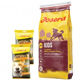 Josera Kids 15kg + Loopies Geflügel 2x150g