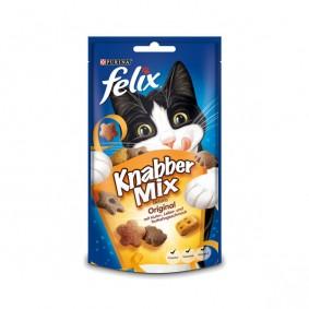 Felix Knabber Mix Katzensnack Original 60g 2+1 Gratis