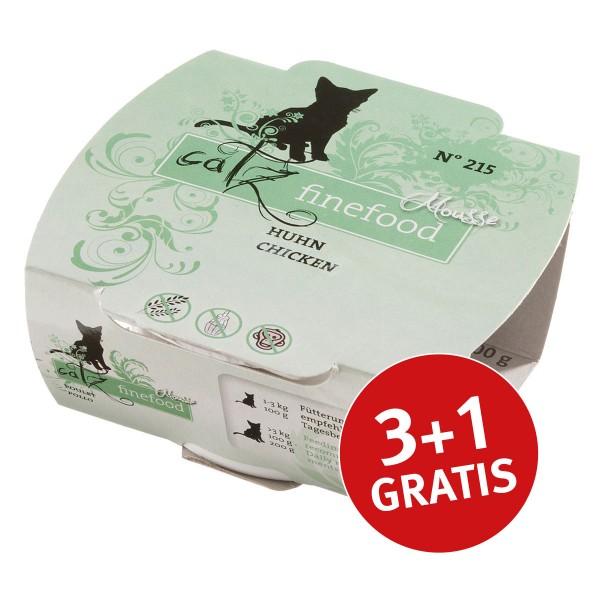 Catz finefood Mousse N°215 Huhn pur 100g 3+1 gratis