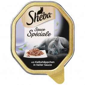 Sheba Katzenfutter Sauce Speciale Kalbshäppchen in heller Sauce