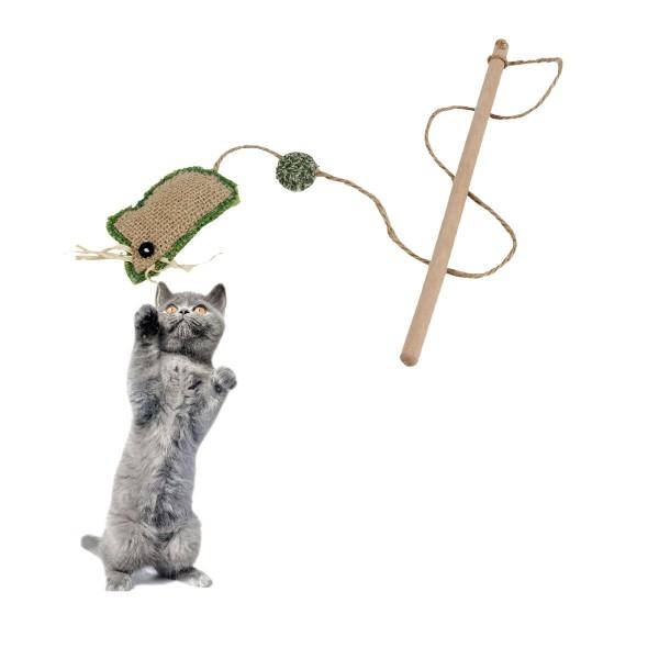 Earthy Pawz Holz Katzenspielzeug Stick 24,5cm