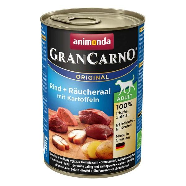 Animonda Hundefutter GranCarno Adult Rind und Räucheraal mit Kartoffeln 6x400g
