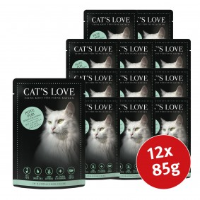 Cat's Love Nassfutter Pute Pur mit Lachsöl & Katzengamander