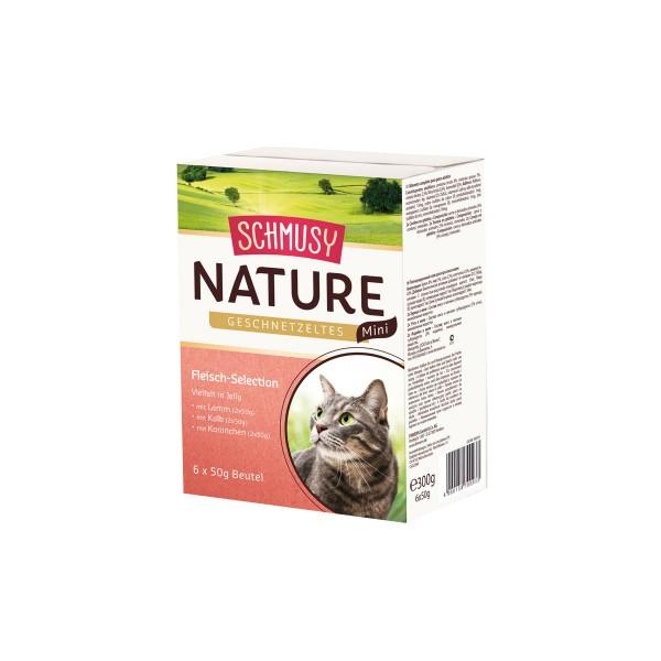 Schmusy Nature Geschnetzeltes Mini Fleisch Selection 6x50g