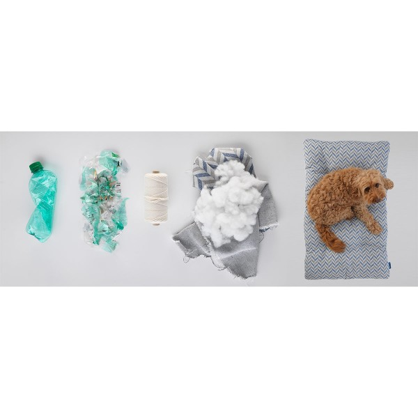 Project Blu Eco Hundekissen Adria grau