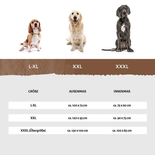 Knuffelwuff orthopädisches Hundebett Balin grau