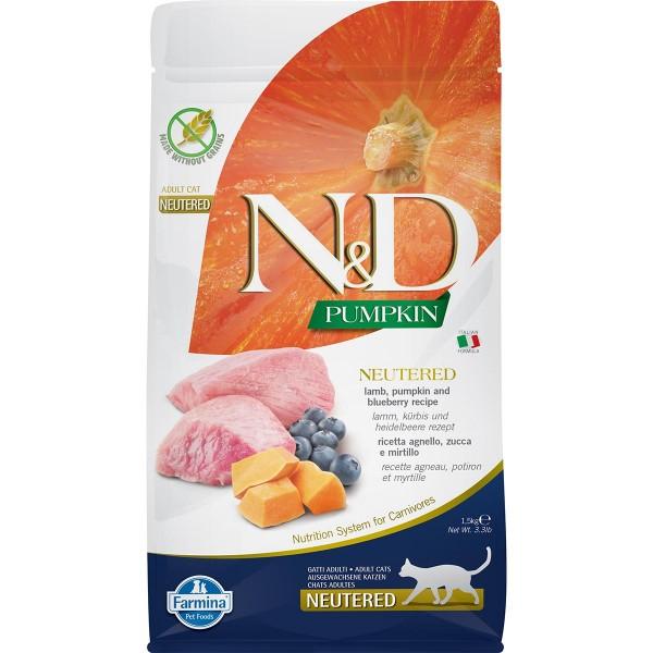 N&D Cat Pumpkin Lamm, Kürbis & Heidelbeere für kastrierte Katzen