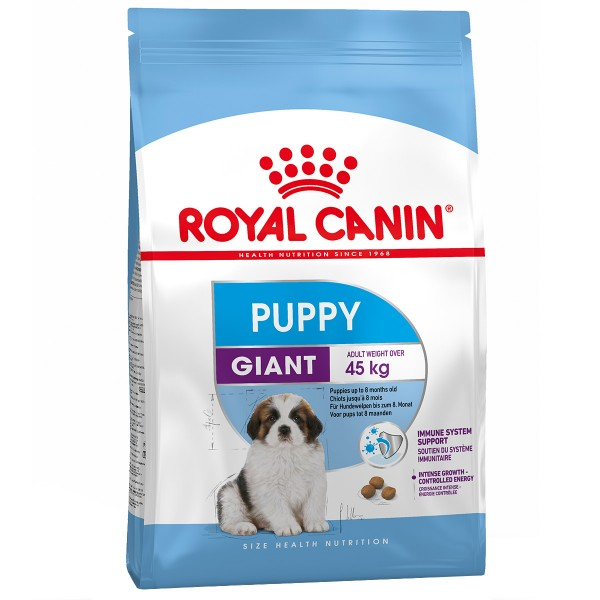 royal canin giant puppy 4 kg preisvergleich hundefutter g nstig kaufen bei. Black Bedroom Furniture Sets. Home Design Ideas