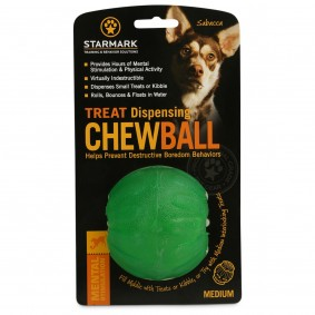 Starmark Hundespielzeug Treat Dispensing Chew Ball