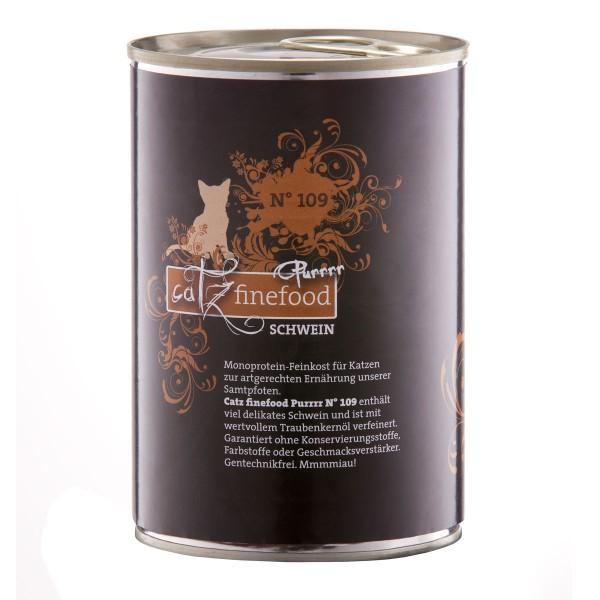 CATZ Finefood Katzen Nassfutter Purrrr No.109 Schwein 400g