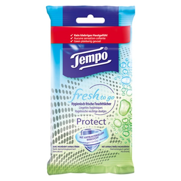 Tempo fresh-to-go Protect 10 Tücher