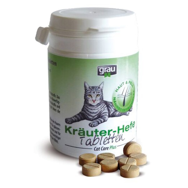 Grau Cat Care Plus Kräuter-Hefe-Tabletten 200 St.