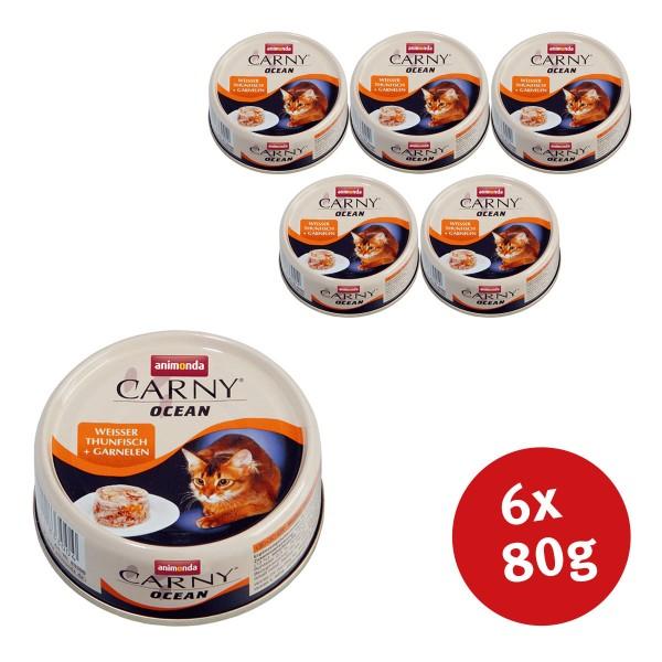 Animonda Katzenfutter Carny Ocean Weißer Thunfisch & Garnelen