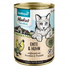 ZooRoyal Minkas Naturkost Adult Ente & Huhn verfeinert mit Karotten & Distelöl