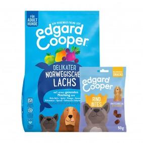 Edgard & Cooper Frischer norwegischer Lachs 12kg + 50g Bites Rind gratis