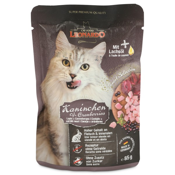 Leonardo Finest Selection Kaninchen & Cranberries - 85g