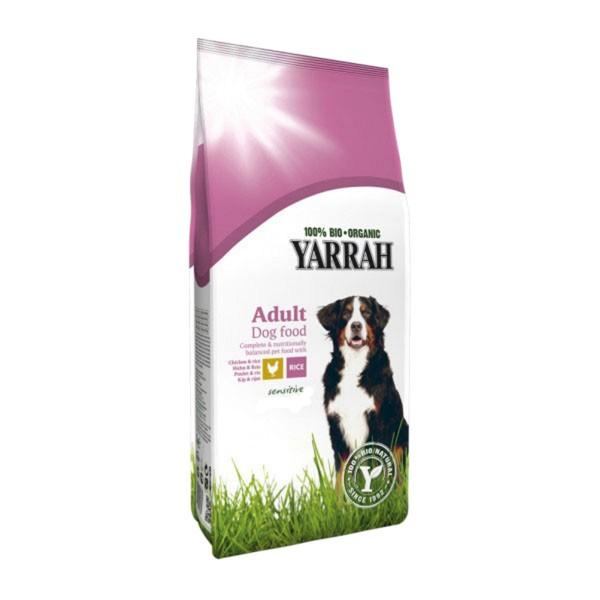 Yarrah Hundefutter Bio Sensitive Huhn, Reis