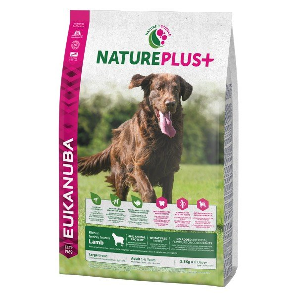Eukanuba NaturePlus+ für große erwachsene Hunde - Lamm