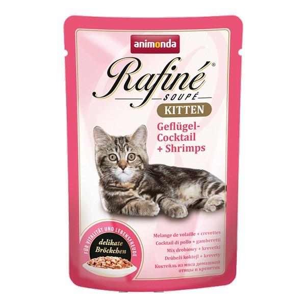 Animonda Rafine Soupe Kitten Geflügel-Cocktail + Shrimps