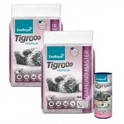 ZooRoyal Tigrooo Diamond Master 2x12kg + Deo Babypuder 700g