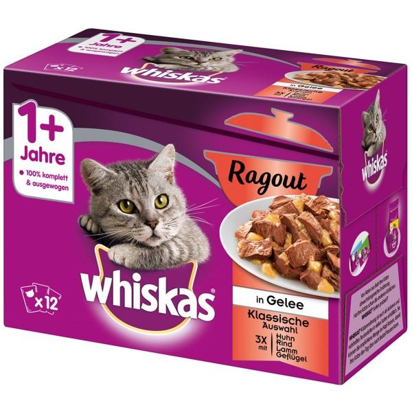 Whiskas Adult 1+ Ragout Klassische Auswahl in Gelee