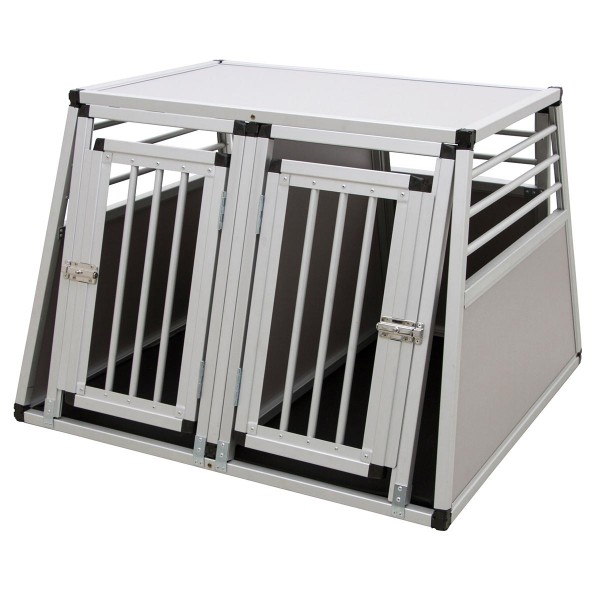Kerbl Alu-Transportbox zweitürig 92 x 97 x 68 cm