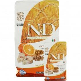 N&D Kabeljau&Orange Adult getreidearm 1,5kg + 300g GRATIS