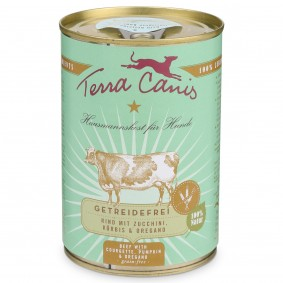 Terra Canis getreidefrei Rind mit Zucchini, Kürbis und Oregano - 6x400g Sale Angebote Kröppen
