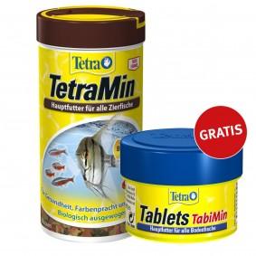 TetraMin Normalflocken Fischfutter 1000ml plus Tetra Tablets TabiMin gratis