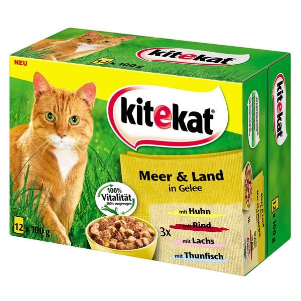 Kitekat Katzenfutter Meer & Land Multipack 12x100g
