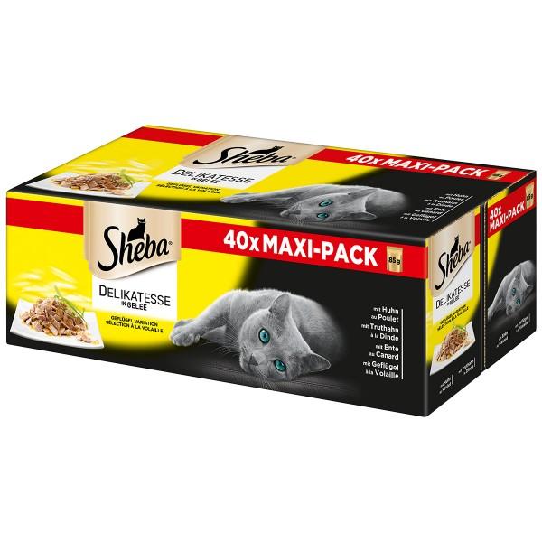 Sheba Delikatessen in Gelee Geflügel Variation Multipack 40x85g