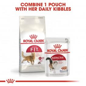 ROYAL CANIN FIT Trockenfutter 2kg + INSTINCTIVE Nassfutter 12x85g