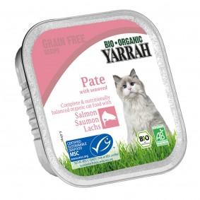 Yarrah Katzenfutter Bio Pate Lachs mit Omega 3 & 6 16x100g