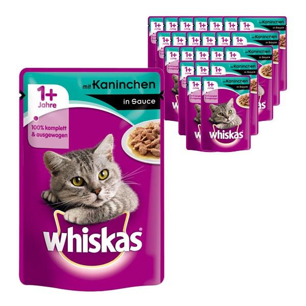 Whiskas Katzenfutter 1+ mit Kaninchen in Sauce