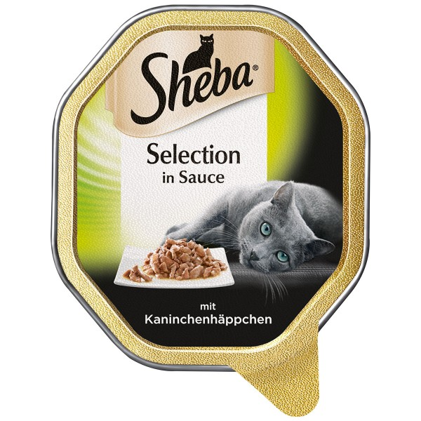 Sheba Katzenfutter Selection in Sauce Kaninchenhäppchen