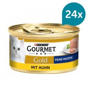 GOURMET Gold Feine Pastete Katzennassfutter mit Huhn