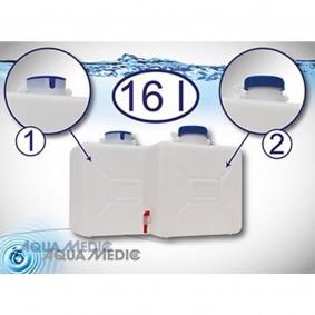 Aqua Medic refill depot 16 Liter mit Ausschnitt und Steckkappe