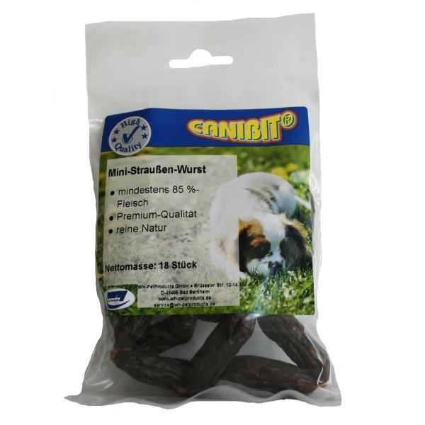 Canibit Hundesnack Mini Straußenwürstchen 18er