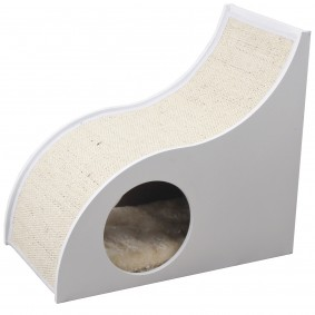 ZooRoyal Katzenhöhle Wave 45 cm weiß