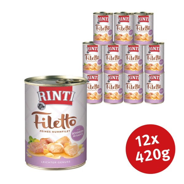 Rinti Nassfutter Filetto Huhn & Schinken in Sauce