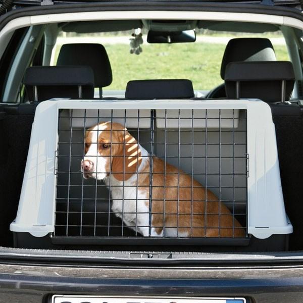 Trixie Traveller 100 Hundebox grau/schwarz