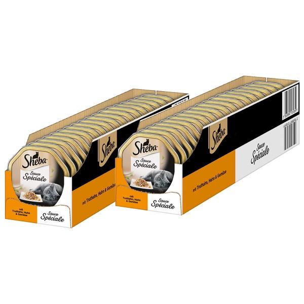 Sheba Katzenfutter Sauce Speciale Putenhäppchen in heller Sauce 44x85g