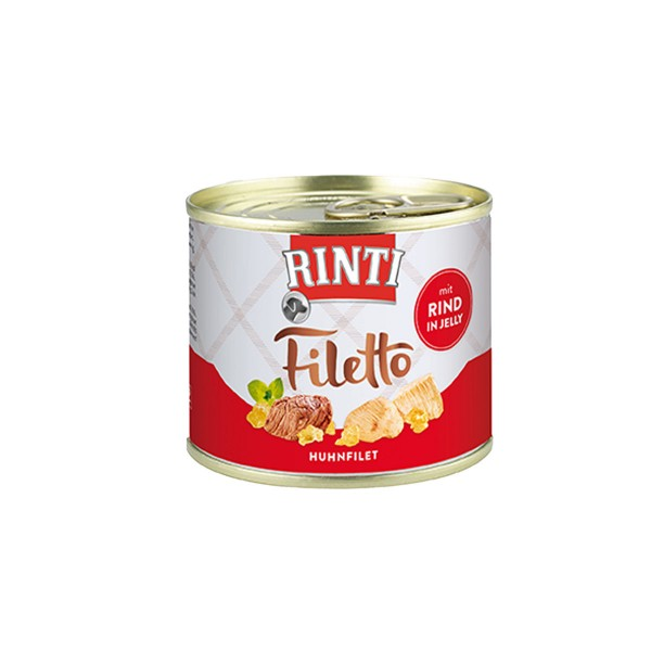 Rinti Hundesnack Filetto Huhn & Rind in Jelly 210g