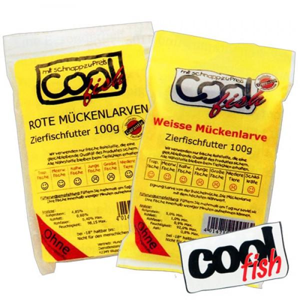 Cool Fish Frostfutter Rote & Weiße Mückenlarven 30x100g