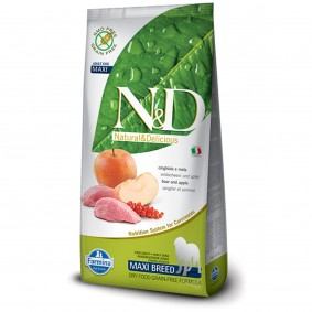 N&D Hundefutter Wildschwein&Apfel Adult Maxi getreidefrei 12kg